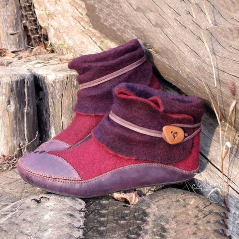 Plus Size Winter Color Matching Women's Boots