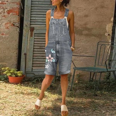 Summer Fashion Women's Loose Denim Jumpsuits