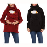 Fashion Maternity Dress Multi-function Kangaroo Sweater