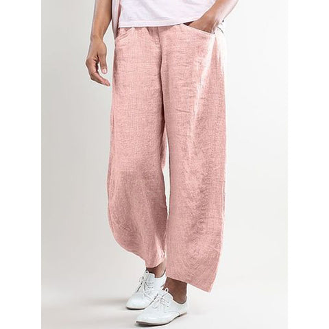 Solid Color Women Summer  Casual Pants