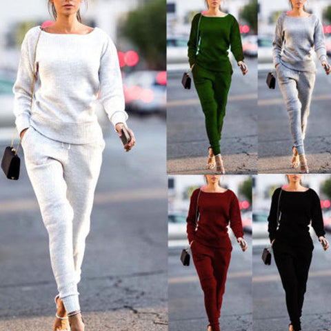 Women Casual Round Neck Sport Suit