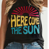 Casual Summer Women Printing Vest