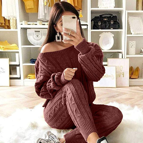 Casual Women Solid color suit sweater