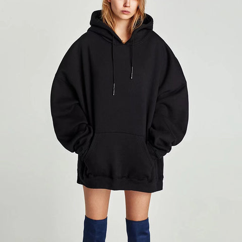 Fanshion Long Sleeve Oversized Hoodie Outfit