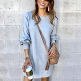 Heaps Sleeves Moving Castle Mini Dress