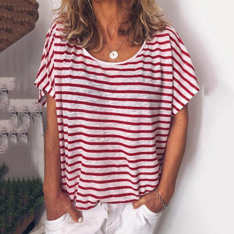Casual Loose Striped T-shirt