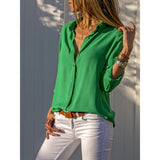 New  V-Neck Solid Casual Blouse