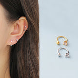 Simple Fashion Round Five-pointed-star Earrings Circle