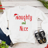 Naughty and Nice Christmas Holiday Plus Size Long Sleeve Women's Autumn Sweatshirts