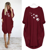 Long Sleeve Casual Loose Women's Plus Size Autumn Dress