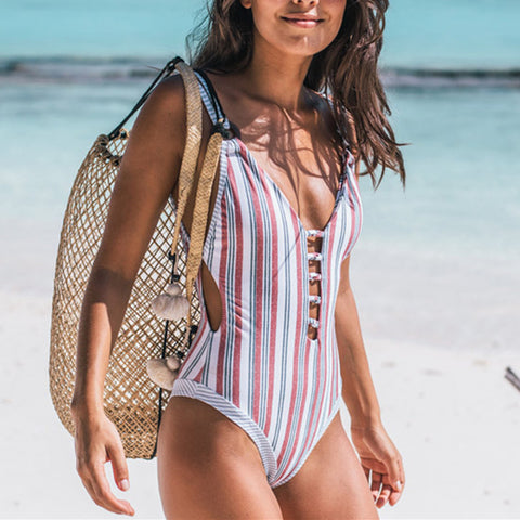 Summer Beach Female Sexy Printed Swimsuit