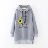 Fashion Sunflower Long Sleeve Women Hoodie