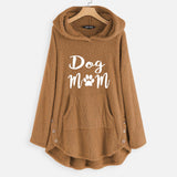 Dog Mom Long Sleeve Plus Size Women's Hoodie