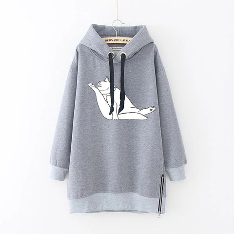 Drawstring Plus Size Long Sleeve Casual Hoodie