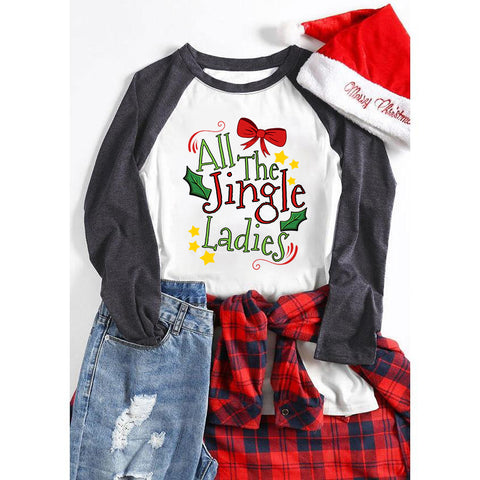 All The Jingle Ladies Holiday Christmas Autumn Women's Sweatshirts