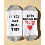 Trendy Unisex If You Can Read Breathable Sweat-Absorbing Socks