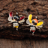 Cute Creative Cartoon Clothes Decoration Bee Brooch