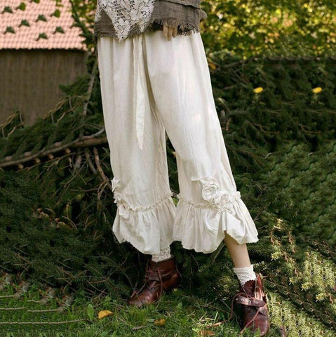 Women's Plus Size Casual Solid Wide Leg Pants