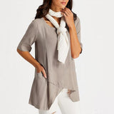 Women Half Sleeve Irregular Blouses