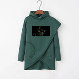 Irregular Autumn Long Sleeve Women Hoodie