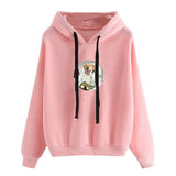 Lovely Dog Astronaut Printed Casual Loose Refill Hoodie