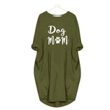 Dog Mom Casual Loose Women's Plus Size Autumn Dress