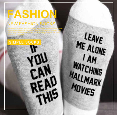 Trendy Unisex Letter Pattern Breathable Sweat-Absorbing Socks