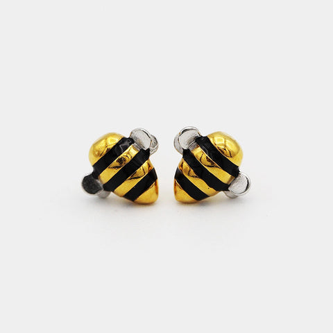 Cute Tiny Bee Earring Stud Unique Earrings