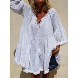 Summer Plus Size V-neck Half Sleeve Dresses