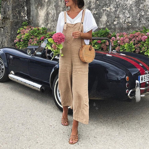 Casual Summer Wide Leg Jumpsuit