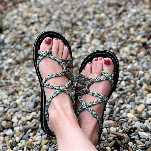 Fashion Casual Lace-up Beach Sandals Shoes