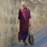 Vintage V-Neck Casual Long Maxi Dress