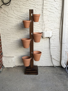 6 Pot PT Pine Base / White Oak Large Tower