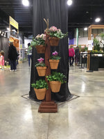 Load image into Gallery viewer, 6 Pot Mahogany Tower at the Boston Flower Show