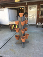 Load image into Gallery viewer, 13 Pot 4 Way Tower in Weathered Gray