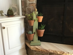 Rustic Sage 4 Pot Tower