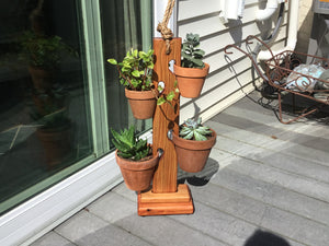 Mahogany Flame 4 Pot Tower