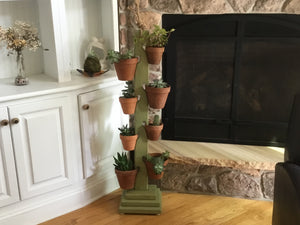 8 Pot Tower in  Rustic Sage