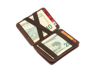 Hunterson RFID Magic Coin Wallet-Brown