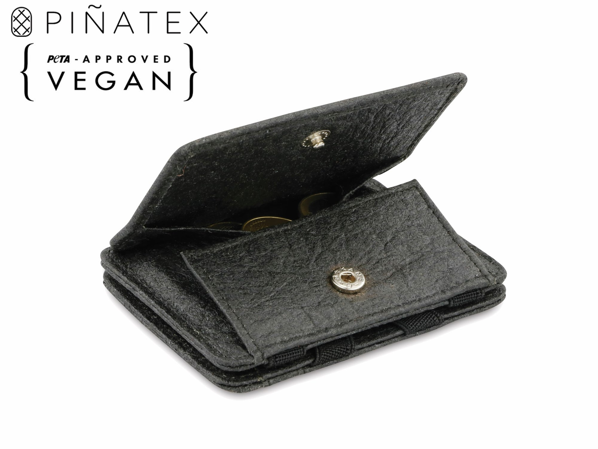 Hunterson Vegan RFID Magic Coin Wallet-Charcoal