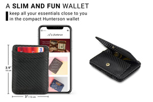 Hunterson RFID Magic Coin Wallet-Carbon