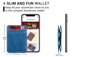 Hunterson RFID Magic Wallet-Azur-White