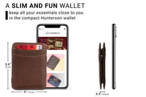 Hunterson RFID Magic Wallet-Brown