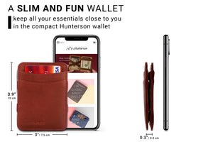 Hunterson RFID Magic Wallet-Burgundy