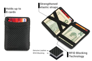 Hunterson RFID Magic Wallet-Carbon