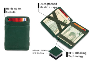 Hunterson RFID Magic Wallet-Green