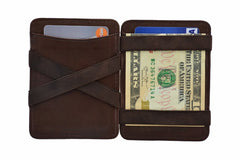 Hunterson Leather Magic Coin Wallet - Brown