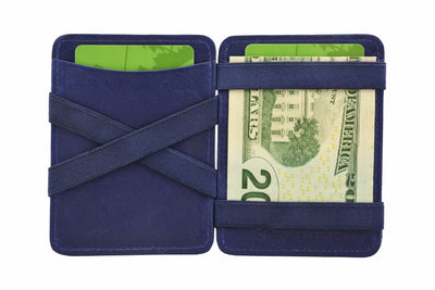 Hunterson Leather Magic Wallet - Blue