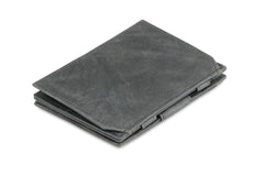 Garzini RFID Leather Magic Coin Wallet Brushed - Black - 1