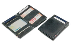 Garzini RFID Leather Magic Coin Wallet Brushed - Black - 4